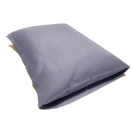 Set of 2 Ultra Soft Pillowcases with Envelope Closure (Standard, Light Grey)
