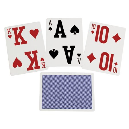 Vision Deck - Elite Low Vision Playing Cards-Blue-Single Deck