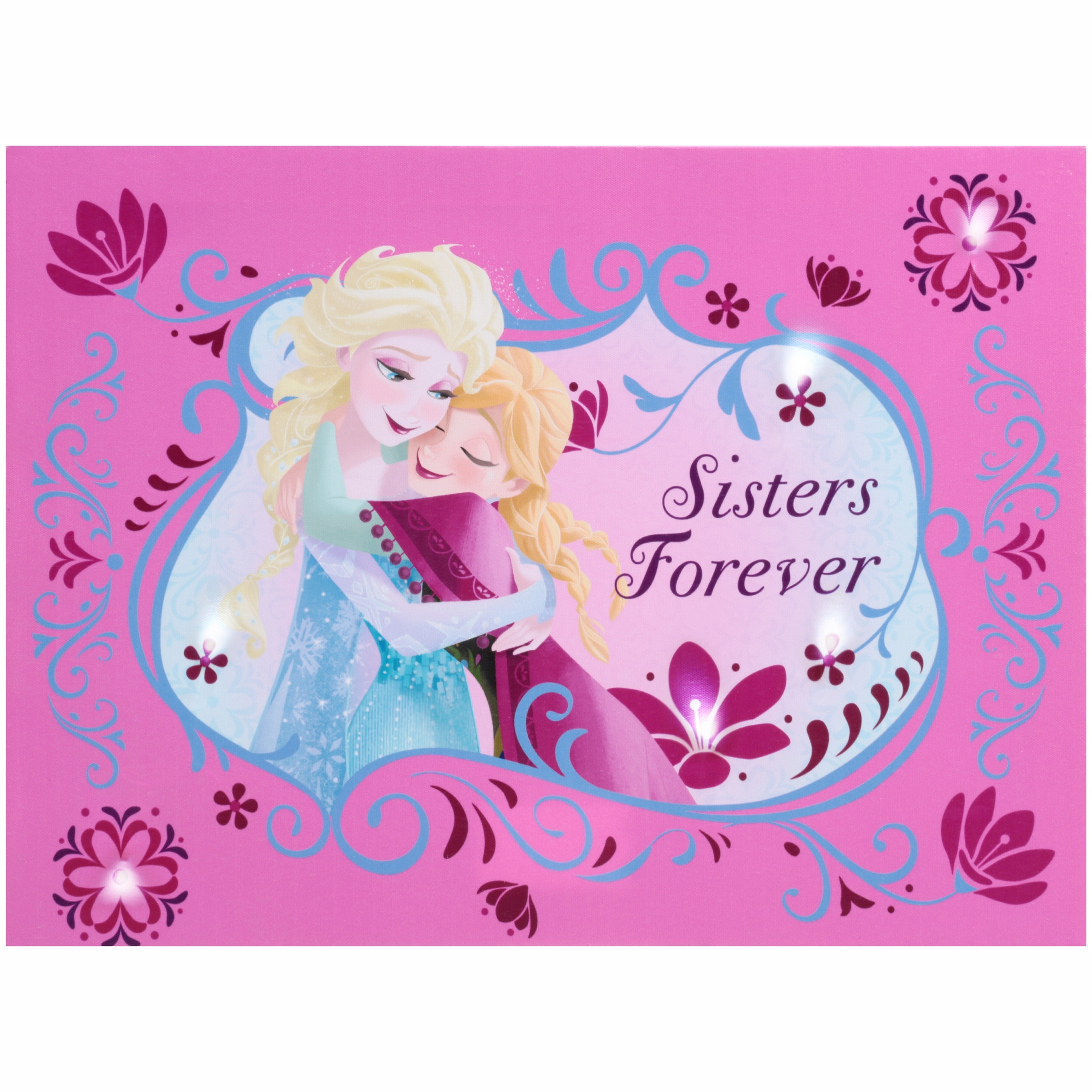 Disney Frozen Sisters Forever 2 in 1 LED Canvas Wall Art