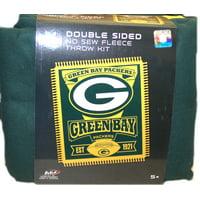 "Green Bay Packers Fleece 50"" x 60"" Double Sided No Sew Blanket Kit, 1 Each"