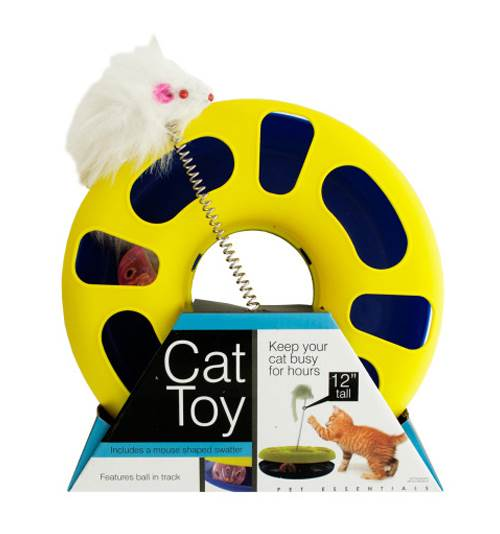 Ball Track Cat Toy with Mouse Swatter by Kole Imports