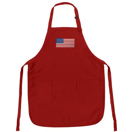 American Flag Apron Grilling Or Kitchen American Flag Design Aprons Famous Broad Bay Quality ()