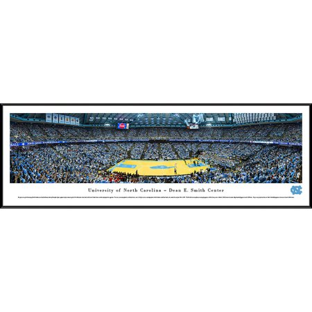 North Carolina College Basketball - North Carolina Tar Heels Basketball at Dean E. Smith Center - Blakeway Panoramas NCAA College Print with Standard Frame