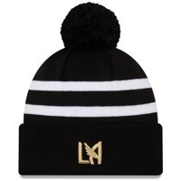LAFC New Era On-Field Stoppage Time Cuffed Knit Hat with Pom - Black - OSFA