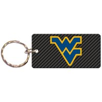 West Virginia Mountaineers Carbon Printed Acrylic Team Color Logo Keychain