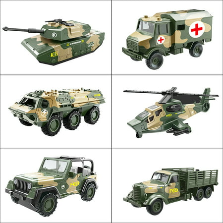 1:64 Die Cast Alloy Metal Miltary Sliding Tank Fighter Helicopter Model Car Toy for Kid Boy Creative Christmas Birthday Gift - Top Toys For Kids