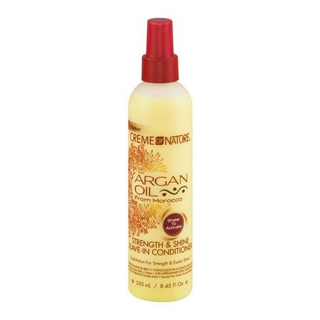 Creme of Nature Force & Shine après-shampoing avec l'huile d'Argan, 8,45 FL OZ