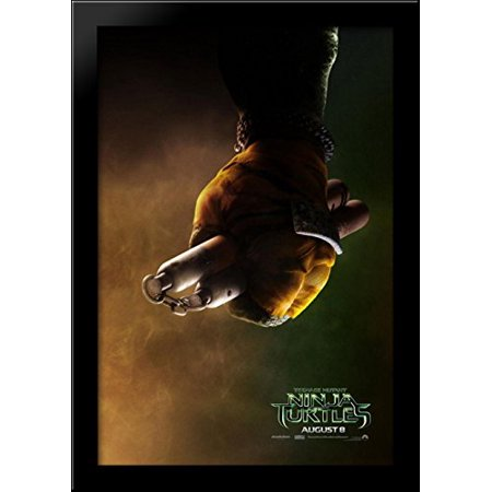 Teenage Mutant Ninja Turtles 28x40 Large Black Wood Framed Print Movie Poster Art - Large Ninja Turtle