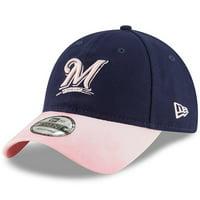 best website ec2b4 7761c Product Image Milwaukee Brewers New Era 2019 Mother s Day 9TWENTY  Adjustable Hat - Navy Pink - OSFA