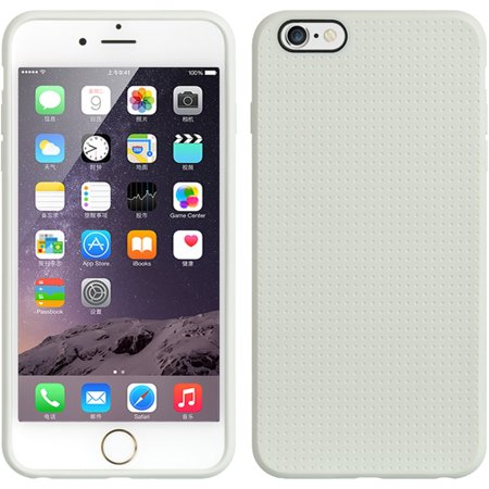 - Insten TPU Dots Ultra Thin Skin Rubber Gel Shell Case For Apple iPhone 6s Plus / 6 Plus - White