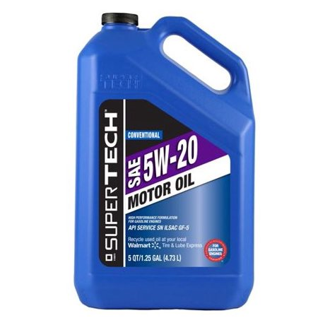 (6 Pack) SuperTech Conventional Motor Oil SAE 5W-20, 5