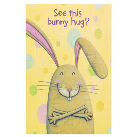 American Greetings Easter 6-Count Bunny Hug Easter Card with Glitter
