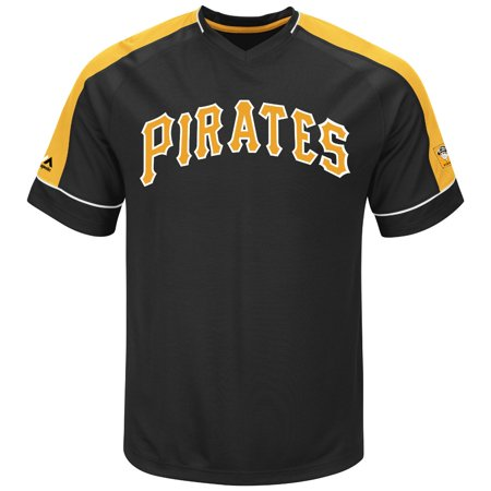 "Pittsburgh Pirates Majestic MLB ""Tandem"" Cooperstown V-Neck Mens Fashion Jersey by"