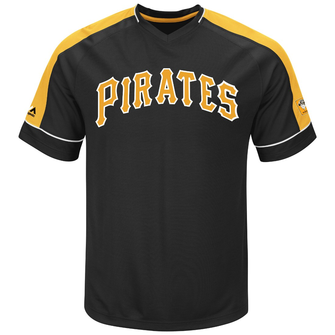 "Pittsburgh Pirates Majestic MLB ""Tandem"" Cooperstown V-Neck Men's Fashion Jersey"