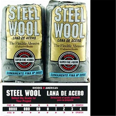 Rhodes American 106600-06 Steel Wool Poly Sleeve - 16 Pad Rhodes Steel Wool