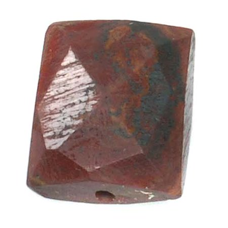 Faceted Rectangle Shape - Red Jasper Faceted Rectangle Gemstone Beads 8-15mm (10)