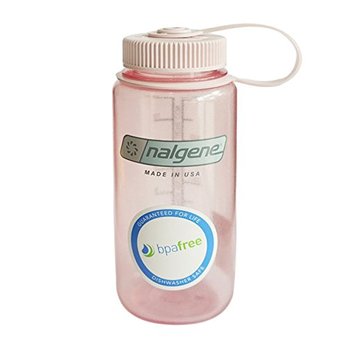 Nalgene Wide Mouth Water Bottle, 1-Pint, Fire Pink - Nalgene