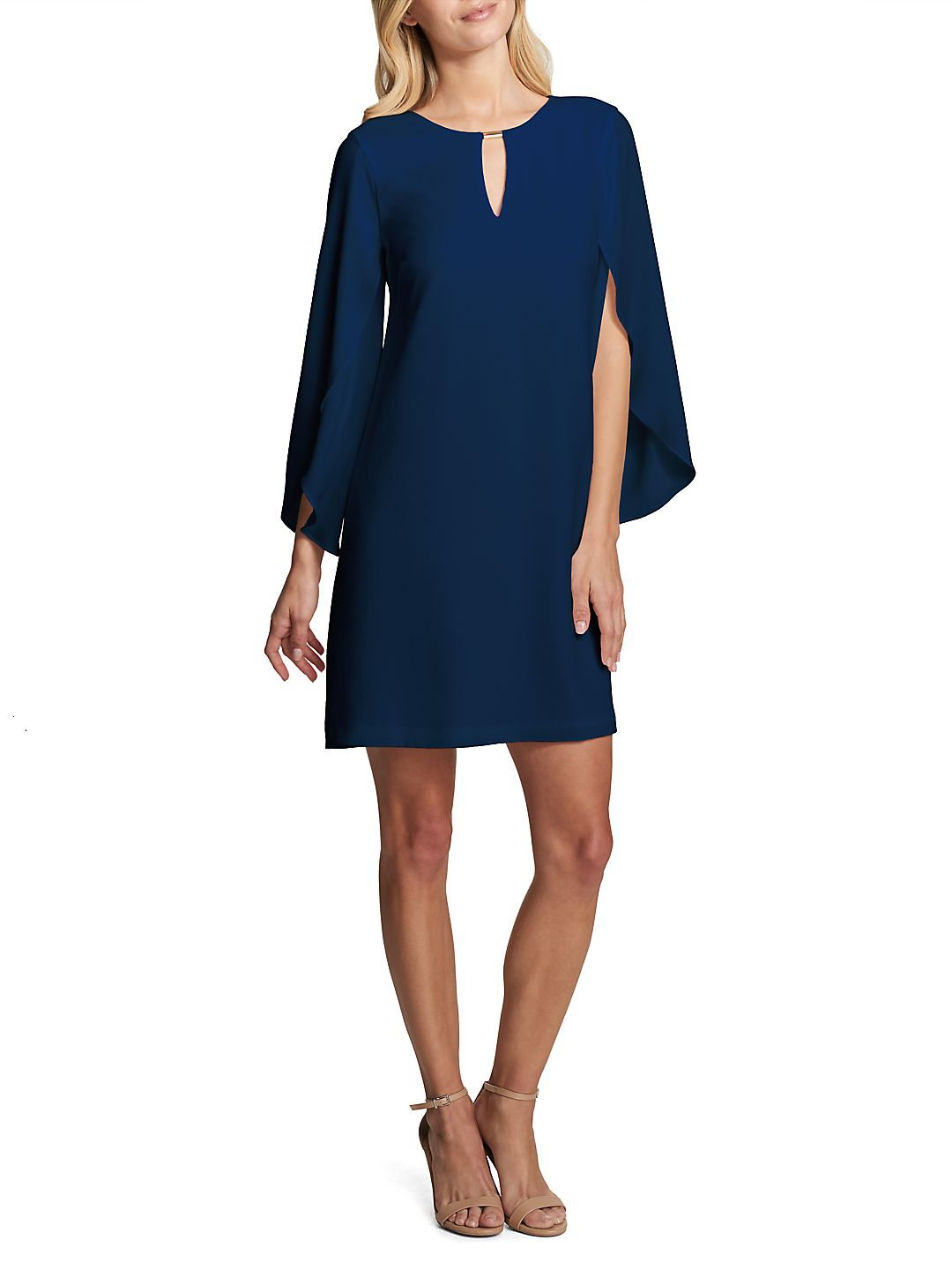 Split-Sleeve Shift Dress