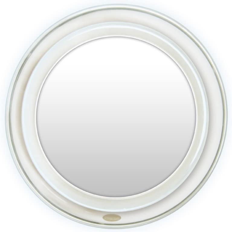 Rucci  Super Bright LED Lighted Suction Mirror with 10x Magnification and 3-in-1 Compact Mirror