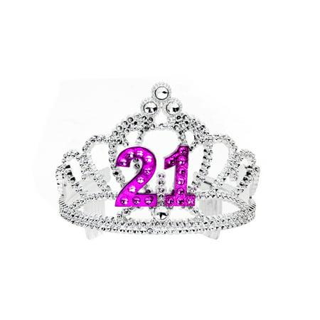 Happy Birthday Twenty One 21 Royal Princess Party Tiara - Royal Princess Birthday Party