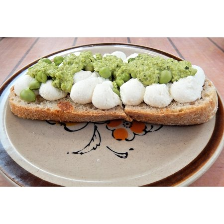 Laminated Poster Buffalo Mozzarella Harvest Bread Mushy Peas Food Poster Print 11 x (Best Tinned Mushy Peas)