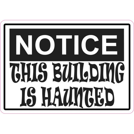 5in x 3.5in Notice This Building Is Haunted Magnet Halloween Magnetic Sign](Halloween Refrigerator)