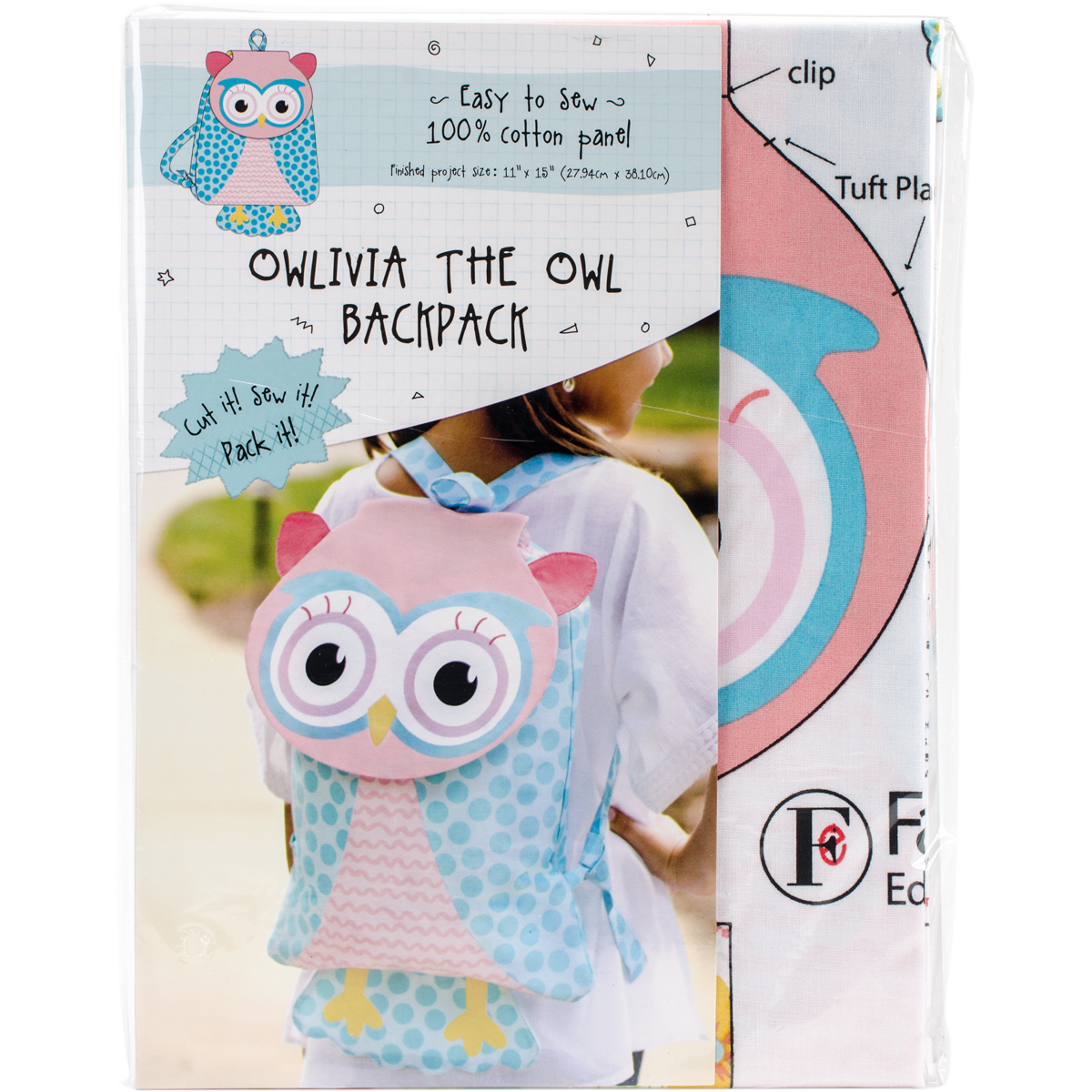 Owlivia The Owl Animal Backpack On Preprinted Fabric-