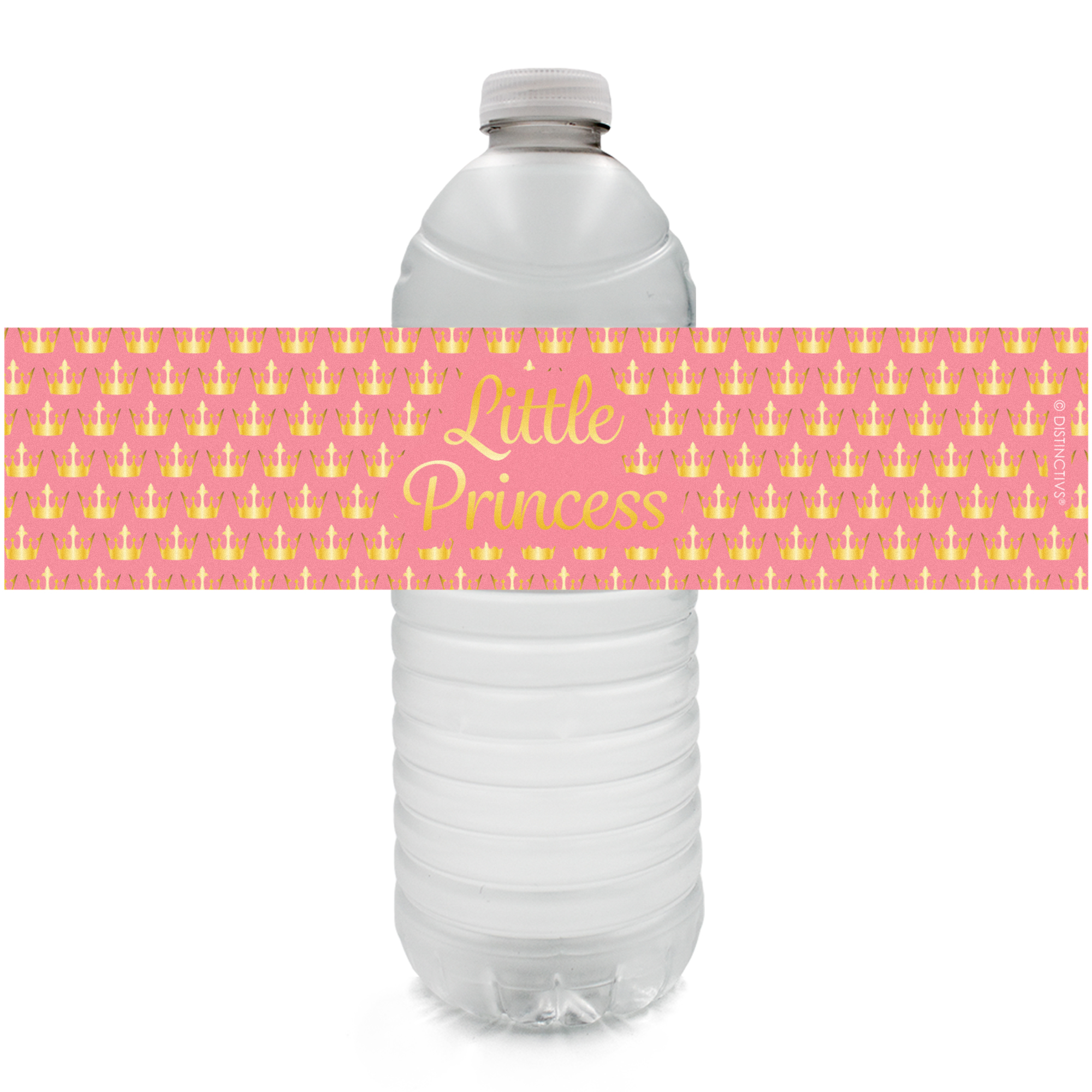 Princess Party Water Bottle Labels, 24ct - Princess Baby Shower Decorations Royal Baby Shower Party Supplies Little Princess Baby Shower Favors- 24 Count Sticker Labels