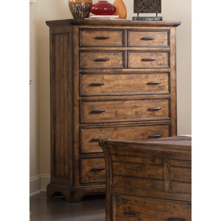 Furniture Bourbon (Coaster Company Elk Grove Rustic Eight-Drawer Chest, Vintage Bourbon )