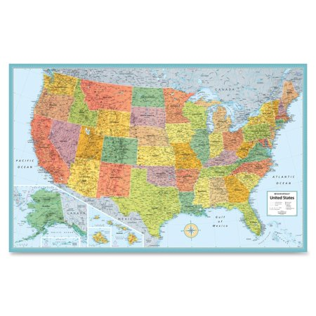Rand McNally MSeries FullColor Laminated United States Wall Map - Us map poster walmart