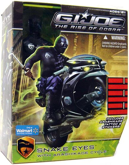 GI Joe The Rise of Cobra Snake Eyes 12 Inch Action Figure by