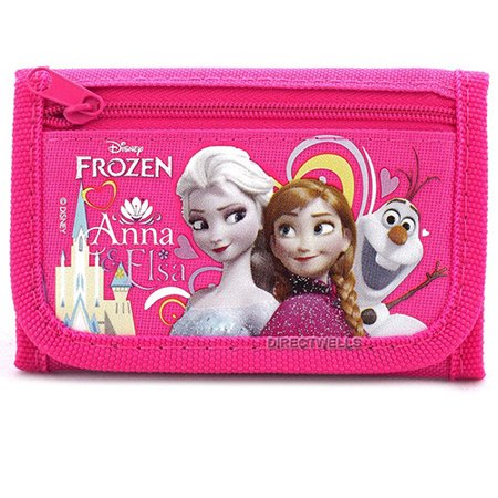 Frozen Elsa Anna and Olaf Character Hot Pink Trifold - Anna Elsa And Olaf Costumes