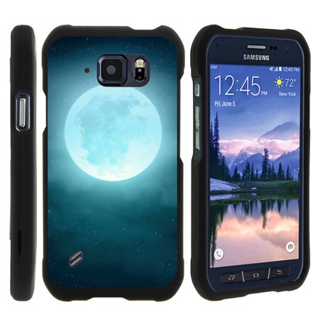 TurtleArmor ® | For Samsung Galaxy S6 Active G890 [Slim Duo] Two Piece Hard Cover Slim Snap On Case - Blue