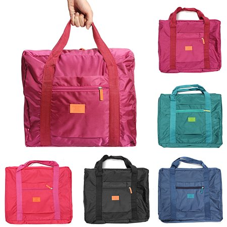 Big Foldable Travel Storage Luggage Carry-On Organizer Hand Shoulder Duffle Bag Travel Camping Sports Bag ()
