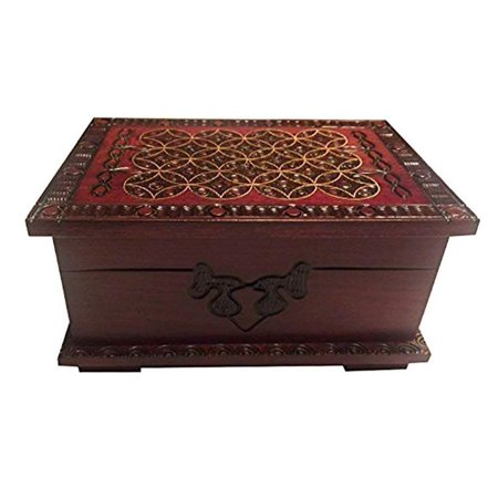 - Celtic Wooden Box Small Polish Handmade Chest Secret Lock Puzzle Box Celtic Keepsake