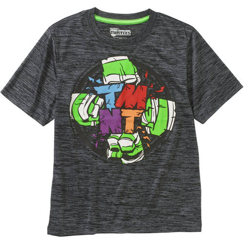 Teenage Mutant Ninja Turtle Fists HD Boys' Poly Graphic Tee