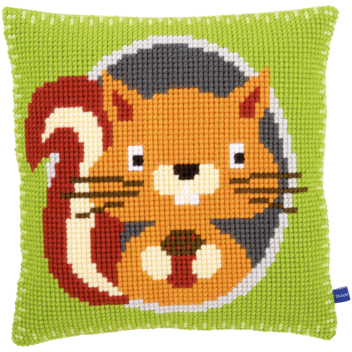 "Squirrel Cushion Cross Stitch Kit-16""X16"""