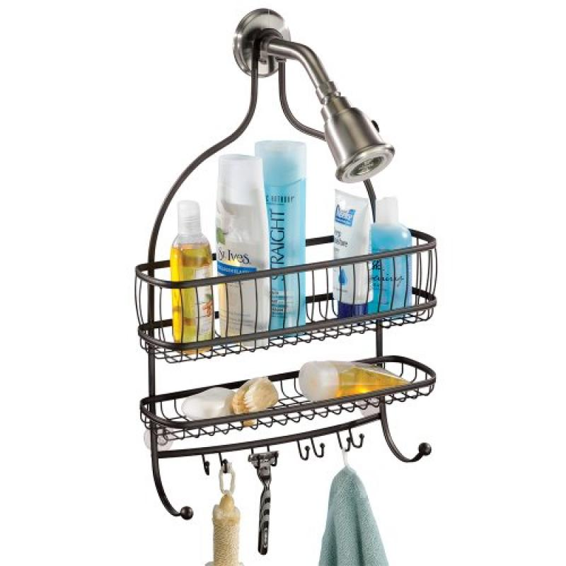InterDesign York Lyra Extra Wide Bathroom Shower Caddy, for Shampoo, Conditioner, Soap... by