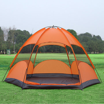 Outdoor 5-8 Persons Large Tent Sunshade Double Layer Sun Shelter Rainproof Anti-UV