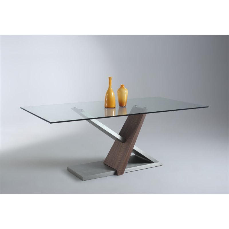 Chintaly Imports Dining Table in Brushed Nickel