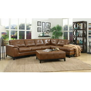 Marquis Set-Sectional With 6 Seats-Left Side Facing Sofa-Right Side Facing Chaise-Otto-Color:Chestnut,Quantity:3