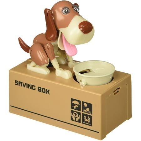 Cute Stealing Coin Dog Money Box Piggy Bank, Panda Motorcycle Money Banks