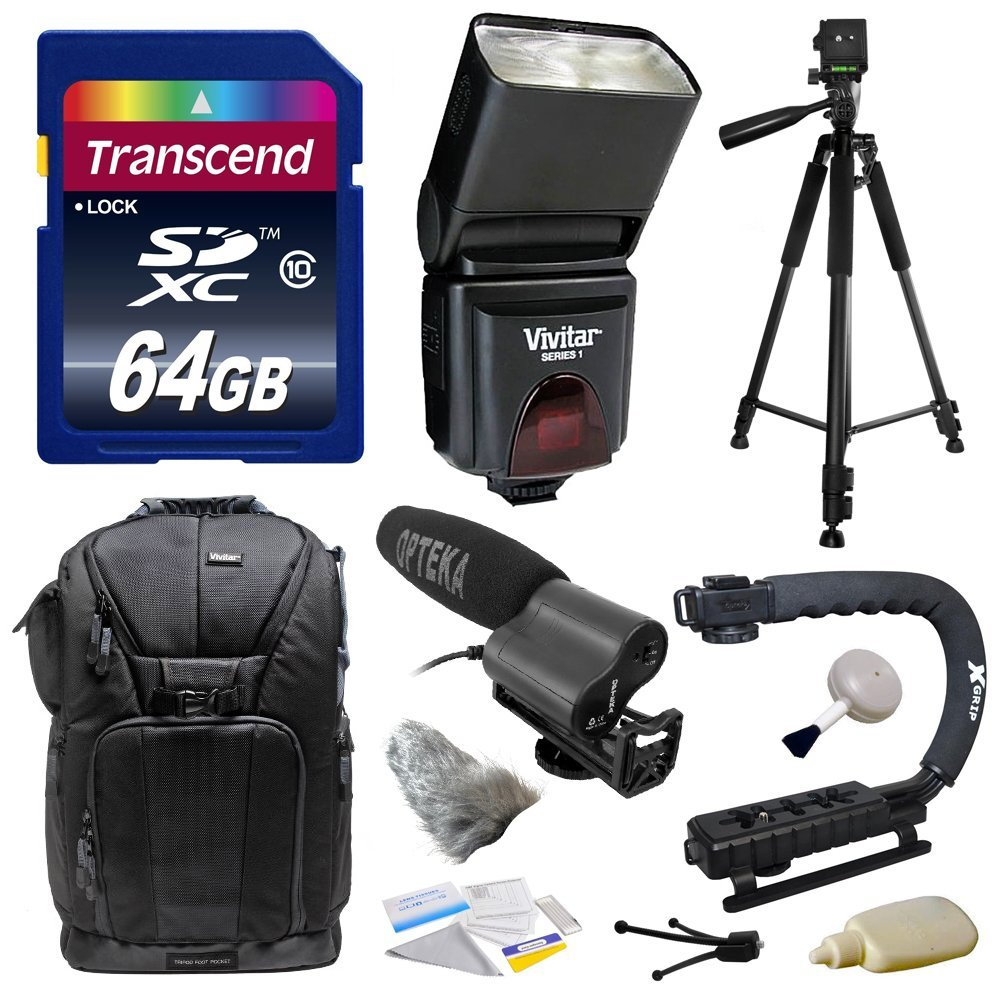 Must Have Kit for Sony NEX, Alpha, Cybershot, SLT Series with Opteka VM-100 Directional Mini-Shotgun... by Opteka