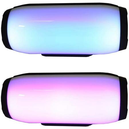 axGear Bluetooth Speaker Portable Super Bass Stereo Loudspeakers w/LED Color Light - image 4 de 5