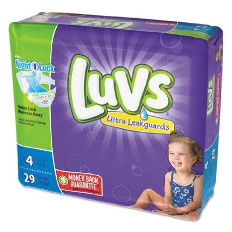 Procter & Gamble 4 PACKS : Luvs Ultra Leakguards Diapers ...