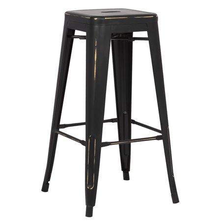 Outstanding Poly And Bark Trattoria 30 Inch Bar Stool In Distressed Finish Creativecarmelina Interior Chair Design Creativecarmelinacom