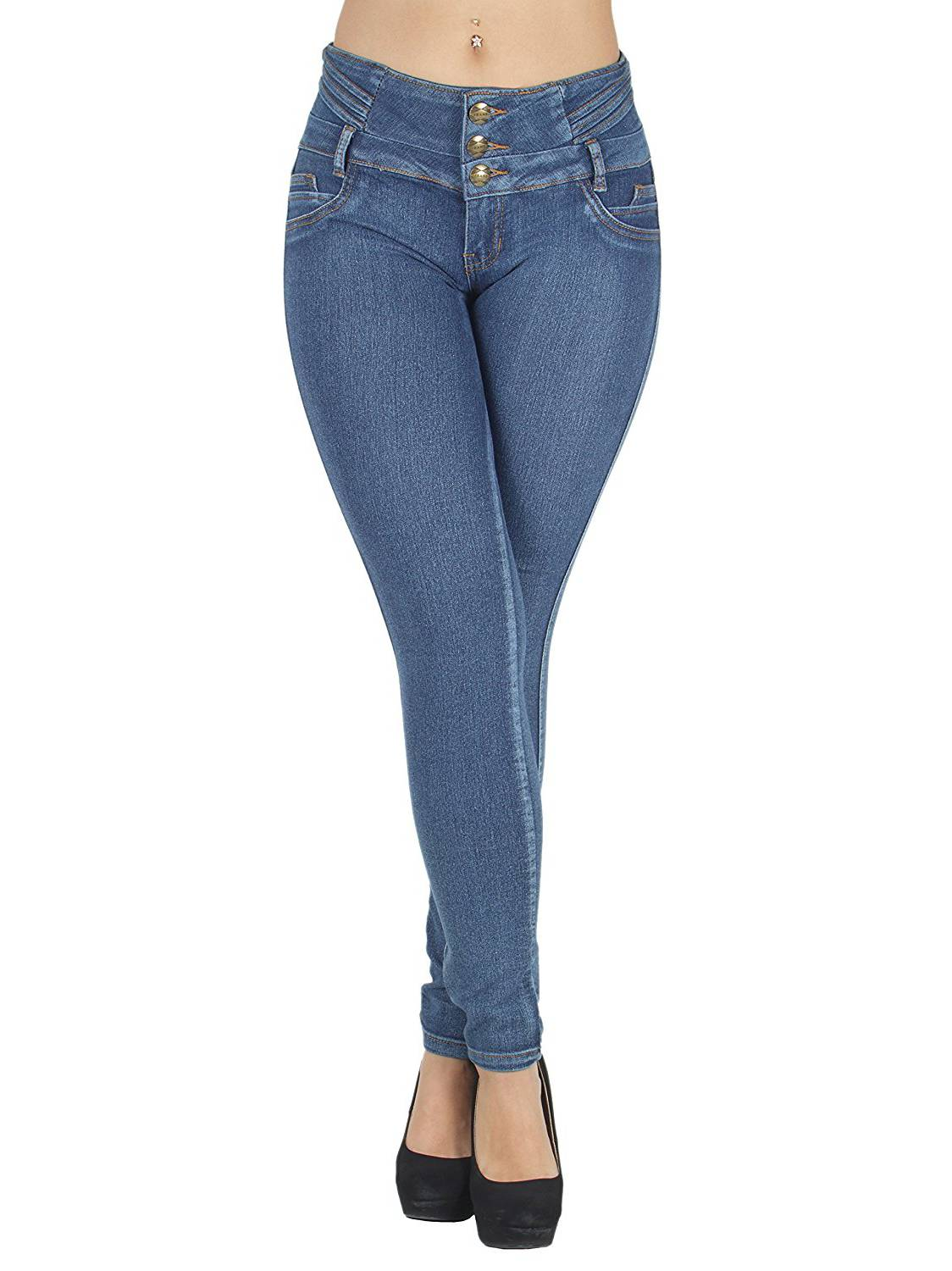 N616  Colombian Design, Butt Lift, Levanta Cola, Sexy Skinny Jeans