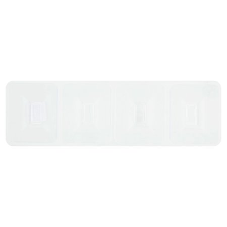 Creative Converting Clear Compartment Tray, 4 count (Clear Serving Tray)