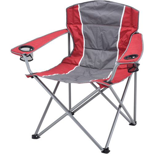 Ozark Trail XXL Padded Folding Camping Chair with Cup Holders