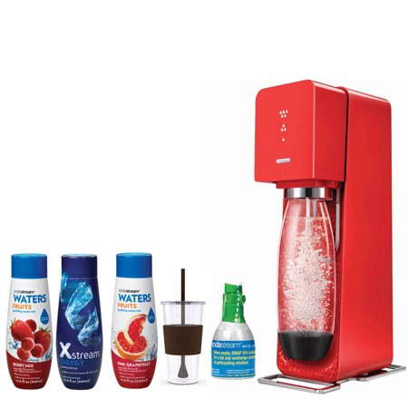 Sodastream Source Home Soda Maker Starter Kit Red With